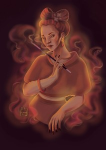 digital painting, Smoke and Mirror by bobb-ee