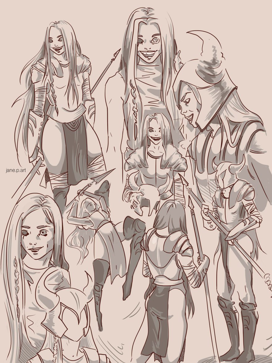 original character sketches blind copy